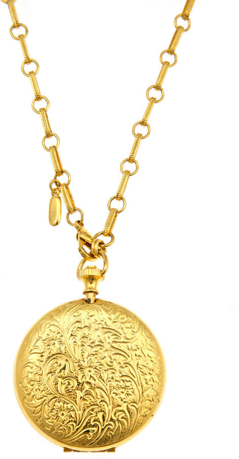 Ben-Amun Long Pocketwatch Locket Necklace