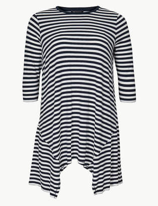 M&S CollectionMarks and Spencer CURVE Striped Jersey 3/4 Sleeve Tunic