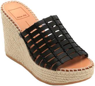Dolce Vita Prue Leather Wedge Sandal