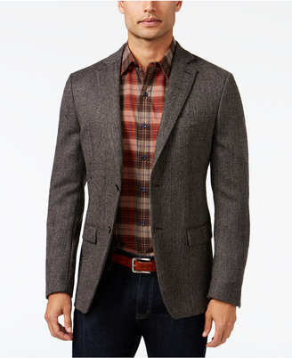 Lauren Ralph Lauren Dark Grey Herringbone Soft Classic-Fit Jacket $350 thestylecure.com