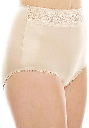 JCPenney Underscore Rainbow Stretch Satin Lace Trim Light Control Briefs 123-3901