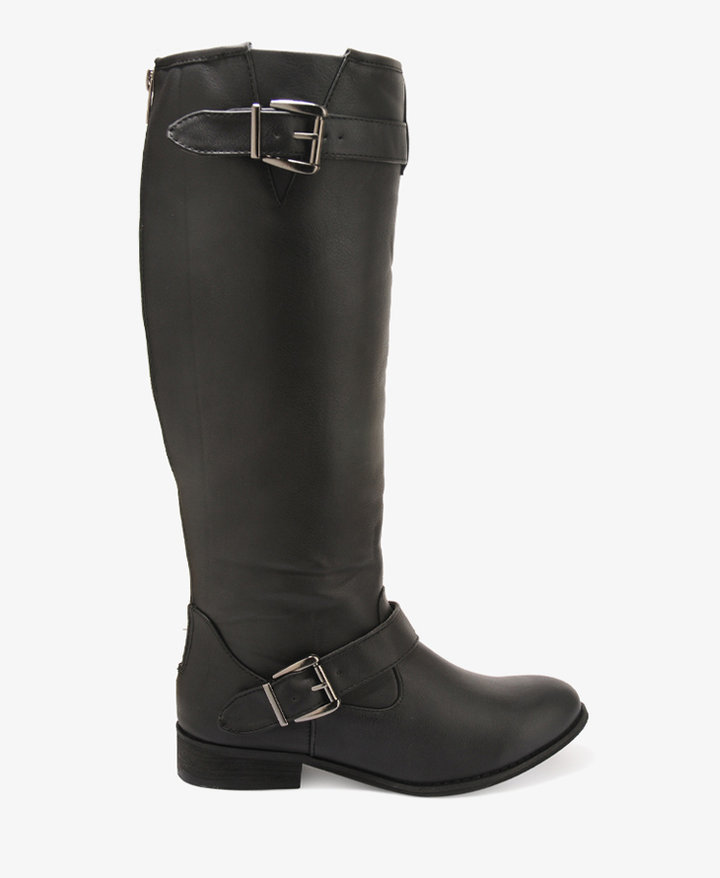 Forever 21 Buckled Riding Boots