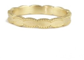 Megan Thorne Ribbed Scallop Band - Yellow Gold