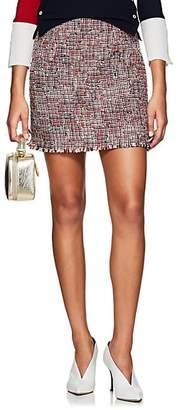 Thom Browne Women's Wool-Blend Tweed Miniskirt - Red