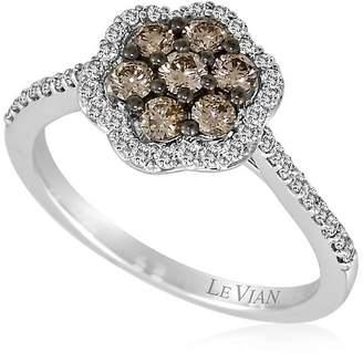 LeVian Le Vian Women's Le Vian Chocolatier® 14K White Gold & Diamond Flower Ring