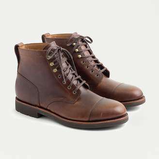 J.Crew Kenton leather cap-toe boots