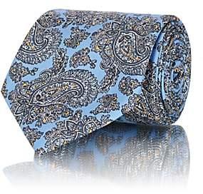 Brioni MEN'S PAISLEY SILK TWILL NECKTIE - LT. BLUE