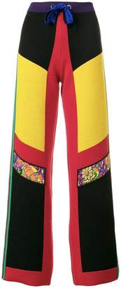 Etro block-colour panel trousers