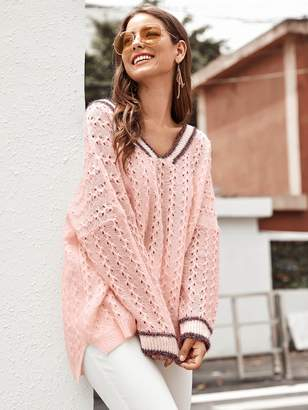 Shein Drop Shoulder Loose Knit Sweater