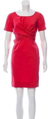 Max Mara Short Sleeve Mini Dress Pink Short Sleeve Mini Dress