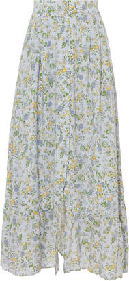 Nightcap Clothing Button Front Midi Floral Skirt