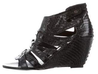 Elizabeth and James Embossed Wedge Sandals