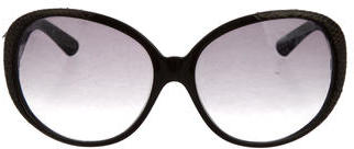 Jimmy ChooJimmy Choo Snakeskin Oversize Sunglasses