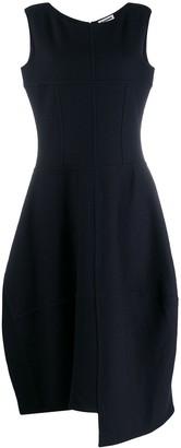 Jil Sander asymmetric midi dress