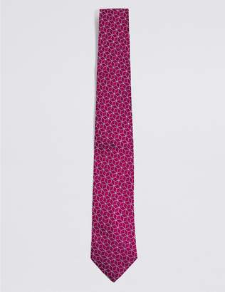 Marks and Spencer Pure Silk Cube Geometric Tie