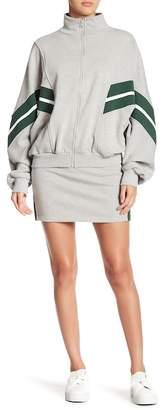 Pink Owl Trimmed Jacket & Skirt 2-Piece Set