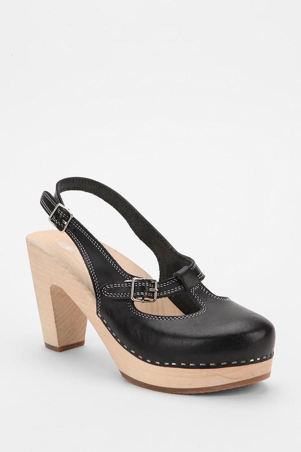 Swedish Hasbeens Mary Jane Slingback Heel