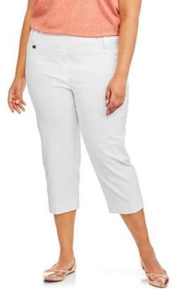 Lifestyle Attitude Women's Plus Capri Tab Pants