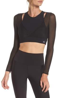 Alo Pivot Layered Look Crop Top