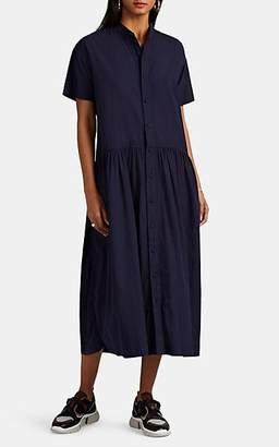 Pas De Calais Women's Cotton Voile Long Shirtdress - Navy