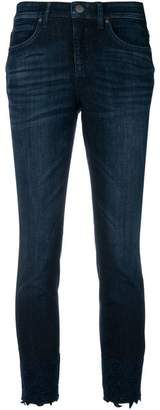 Cambio lace hem skinny jeans