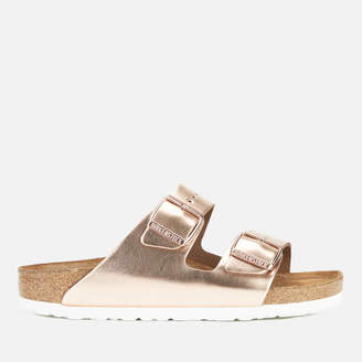 055d83c781d36 Birkenstock Women s Arizona Leather Slim Fit Double Strap Sandals -  Metallic Copper
