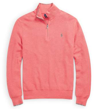Ralph Lauren Cotton Mesh Half-Zip Sweater