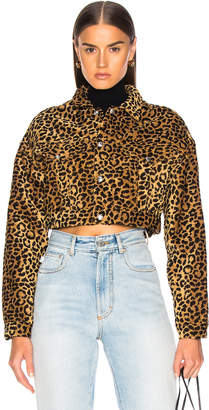 RE/DONE ORIGINALS Leopard Cropped Jacket