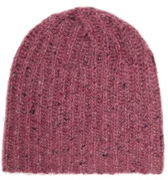 Gabriela Hearst Donegal Rib Knitted Cashmere Beanie Hat - Womens - Light Pink