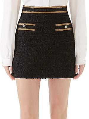 Gucci Women's Bouclé Knit Mini Skirt