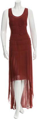 Vera Wang Pleated Silk Dress $125 thestylecure.com