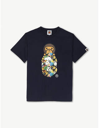A Bathing Ape Baby Milo and ape print cotton T-shirt 4-8 years