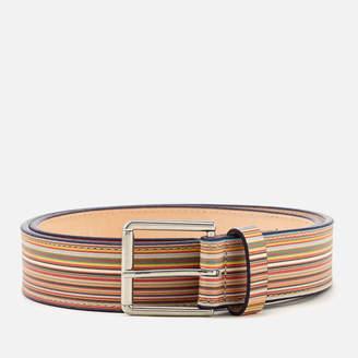 Paul Smith Men's Multistripe Belt - Multi - W32 - Multi