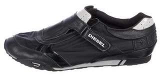 Diesel Leather Round-Toe Sneakers