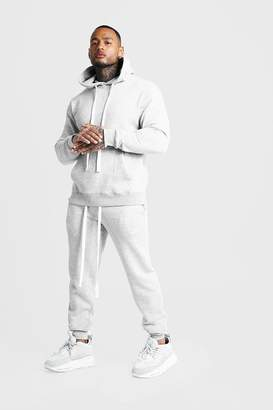 boohoo MAN Hooded Slim Fit Tracksuit with Long Drawcords