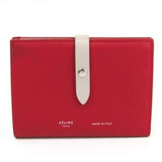 Celine Red Leather Wallets
