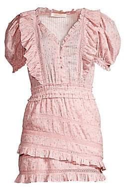LoveShackFancy Women's Sutton Ruffle Cotton Dress