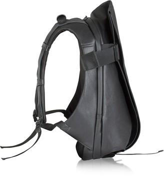 Côte&Ciel Isar Medium Black Coated Canvas Backpack