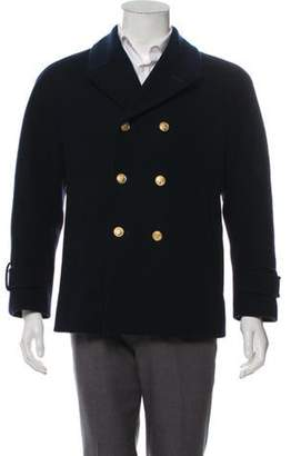 Thom Browne Double-Breasted Peacoat navy Double-Breasted Peacoat