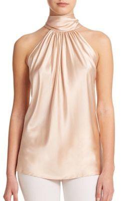 Ramy Brook Paige Silk Halter Blouse $295 thestylecure.com