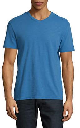 Calvin Klein Jeans Mixed Media V-Neck T-Shirt