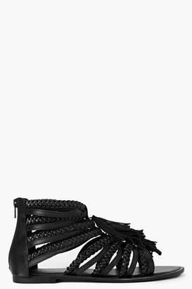 boohoo Boutique Multi Fringe Sandals