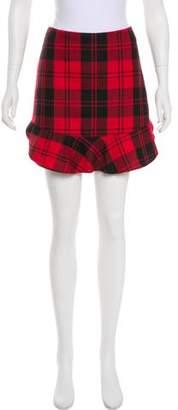 Intermix Plaid Mini Skirt