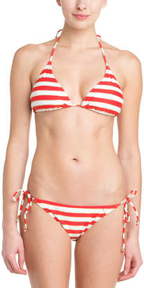 French Connection Sun & Sea Lady Rogue & Gold Stripe Bow Tie Brief