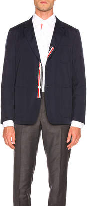 Thom Browne Patch Pocket Blazer in Navy | FWRD