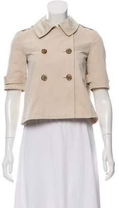 Gryphon Double-Breasted Short Sleeve Jacket