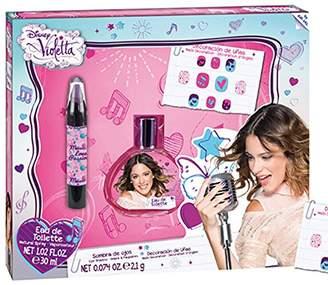 Disney Violetta Set Eau de Toilette 30 ml/ Nail Pencil/ Eye decoration