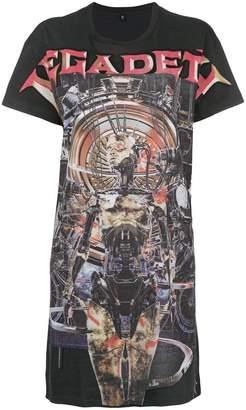 R 13 プリント ロングTシャツ
