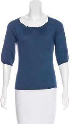 Max Mara Weekend Three-Quarter Sleeve Scoop Neck Sweater