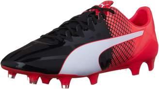 Puma Men's EVOspeed 1.5 Tricks FG Soccer Cleats, Black White